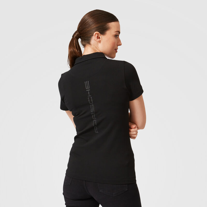PORSCHE FW WOMENS POLO - black