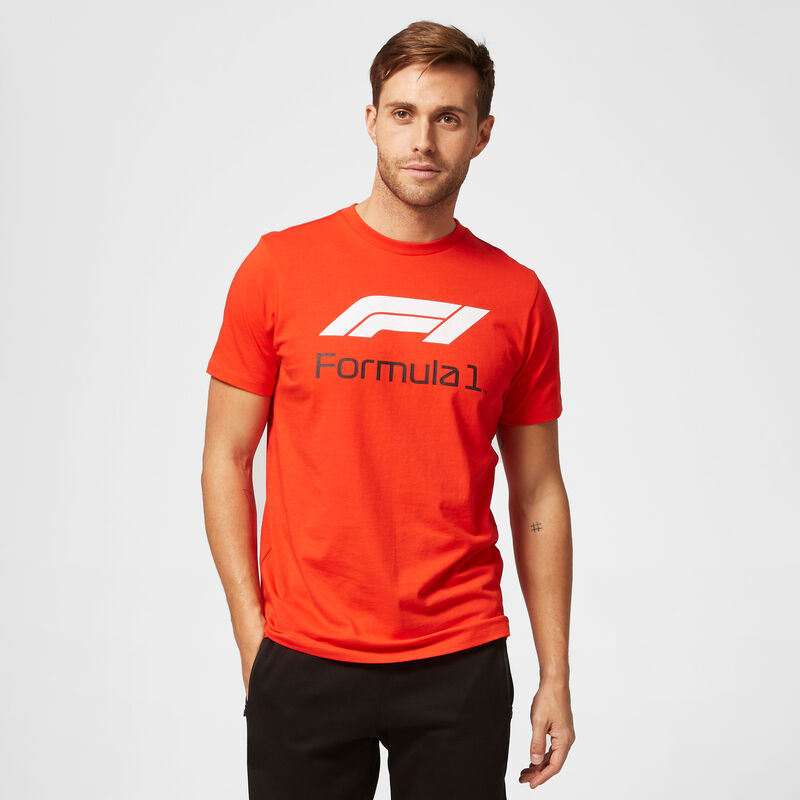 F1 FW MENS NO 1 TEE - red