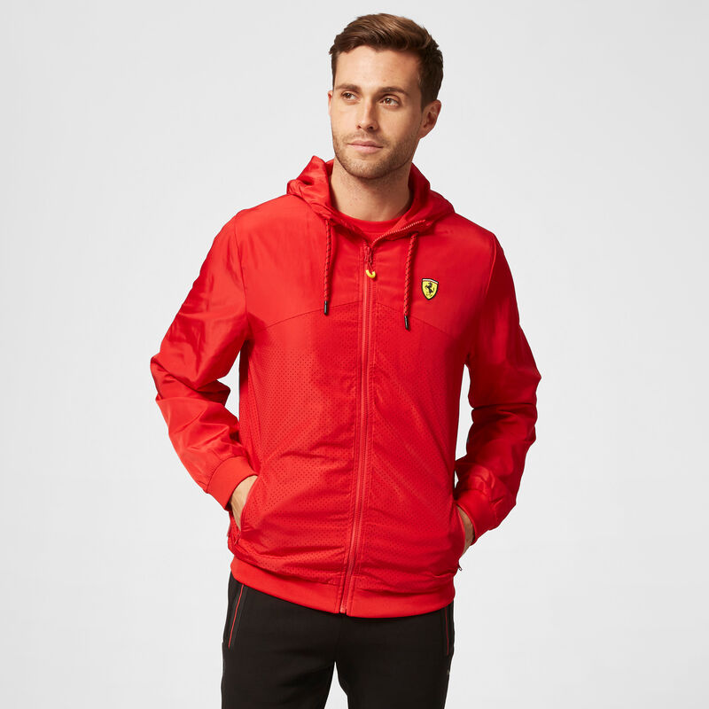 SF FW MENS WINDBREAKER - red