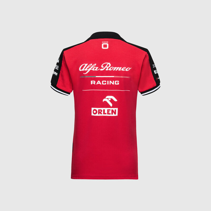 ALFA ROMEO RACING WOMENS POLO - red