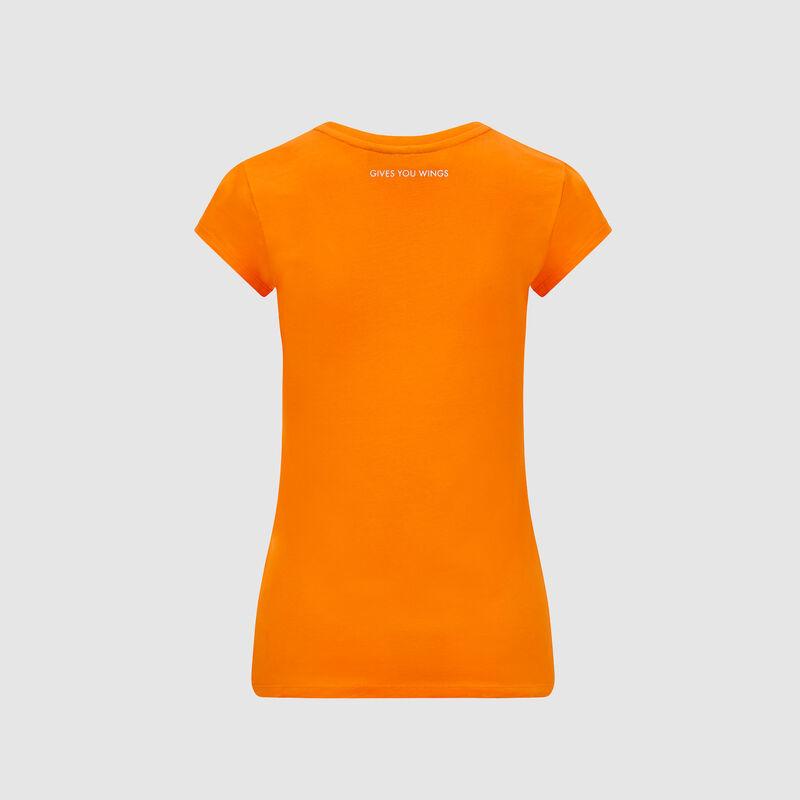 AMRBR FW WOMENS ORANGE LOGO TEE  - orange