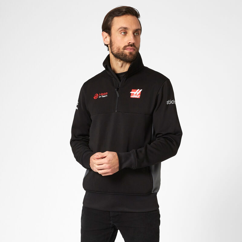 HAAS F1 RP MENS (HALF) ZIP SWEAT - black