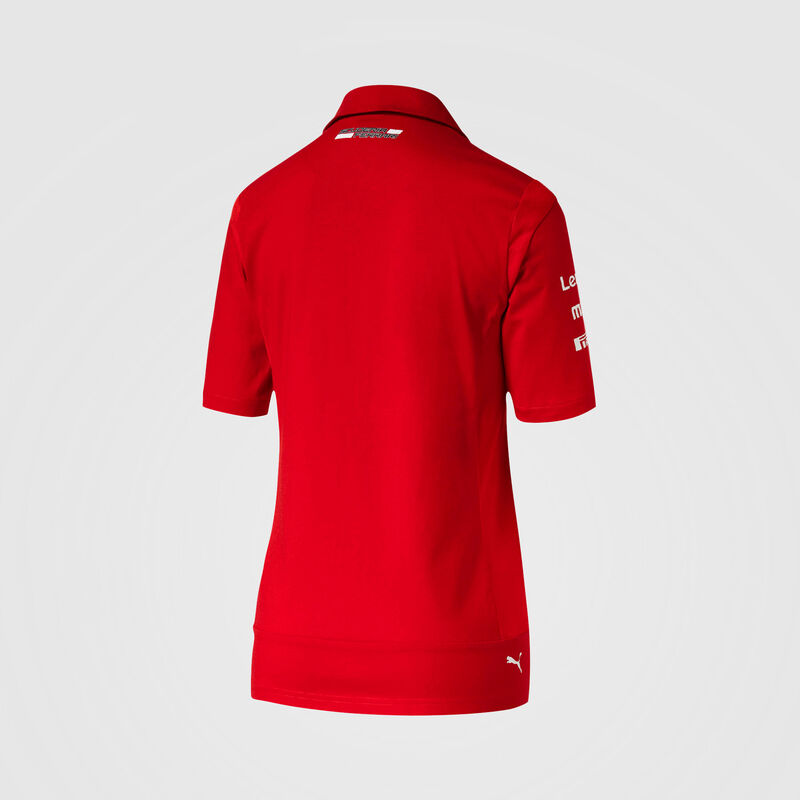 SF RP WOMENS NMWN TEAM POLO - red