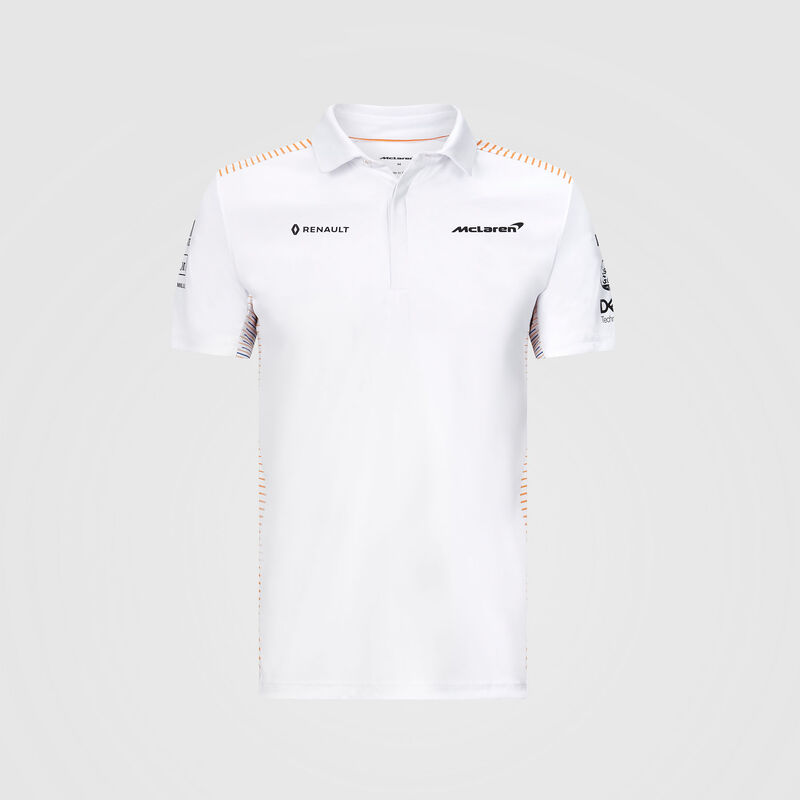 MCLAREN RP MENS TEAM POLO - white