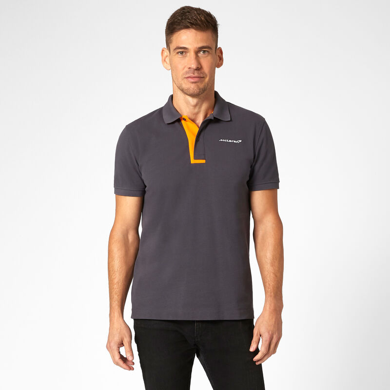 MCLAREN FW MENS ESSENTIALS POLO - Antracit