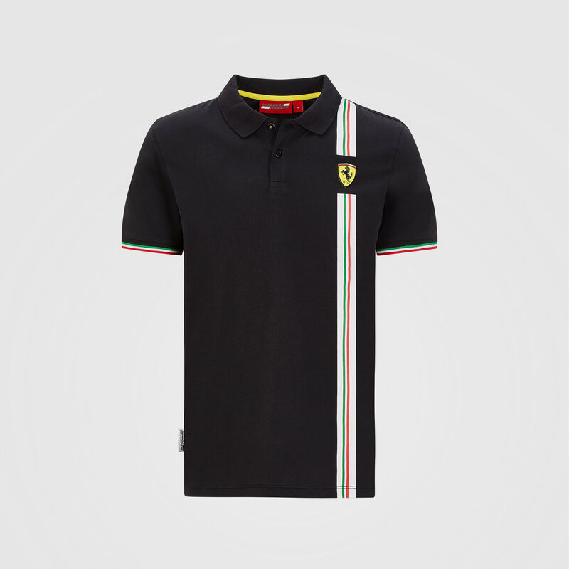 SF FW MENS ITALIAN FLAG POLO - black