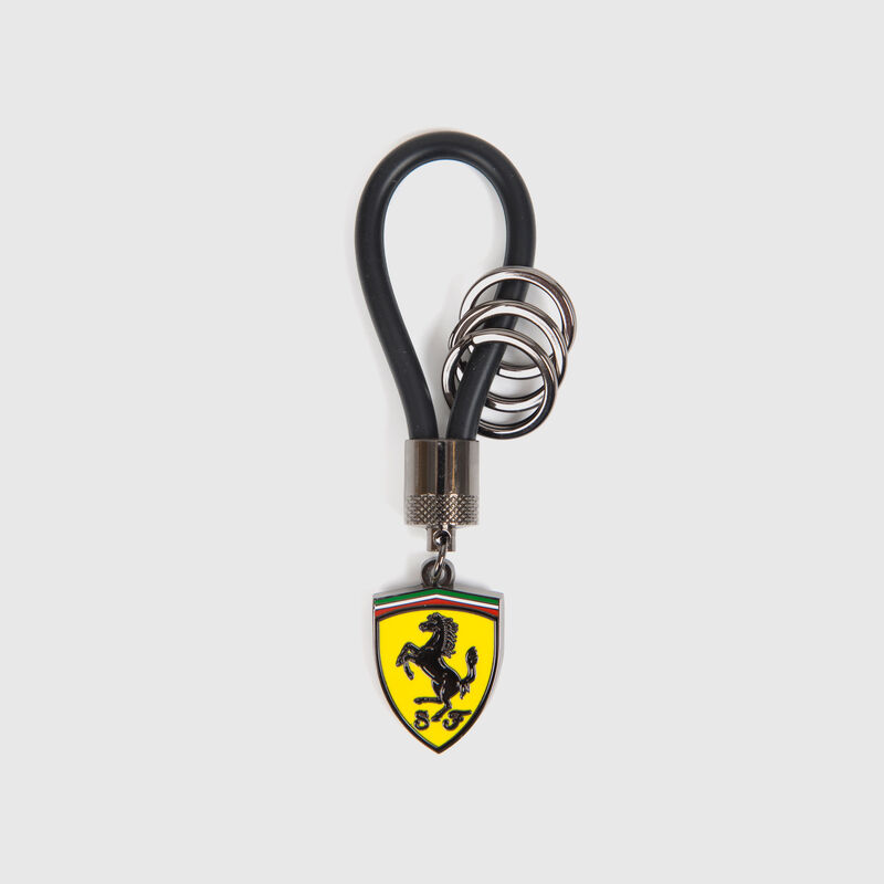 SF FW RUBBER STRAP KEYRING - black