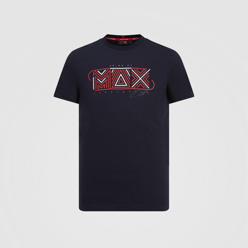 AMRBR FW MENS MAX VERSTAPPEN GRAPHIC TEE - navy