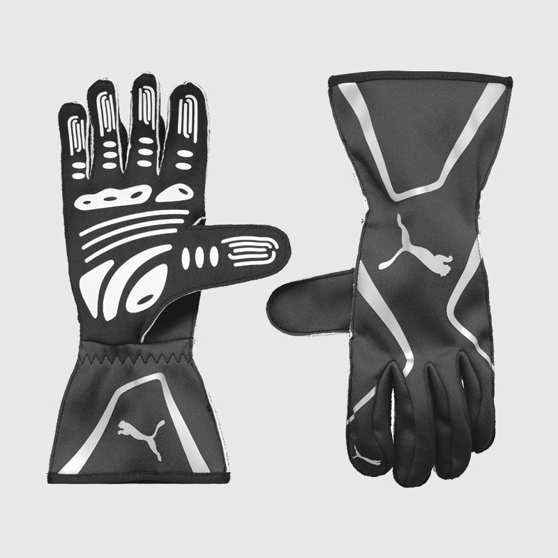 PU RW KART CAT II GLOVES - black