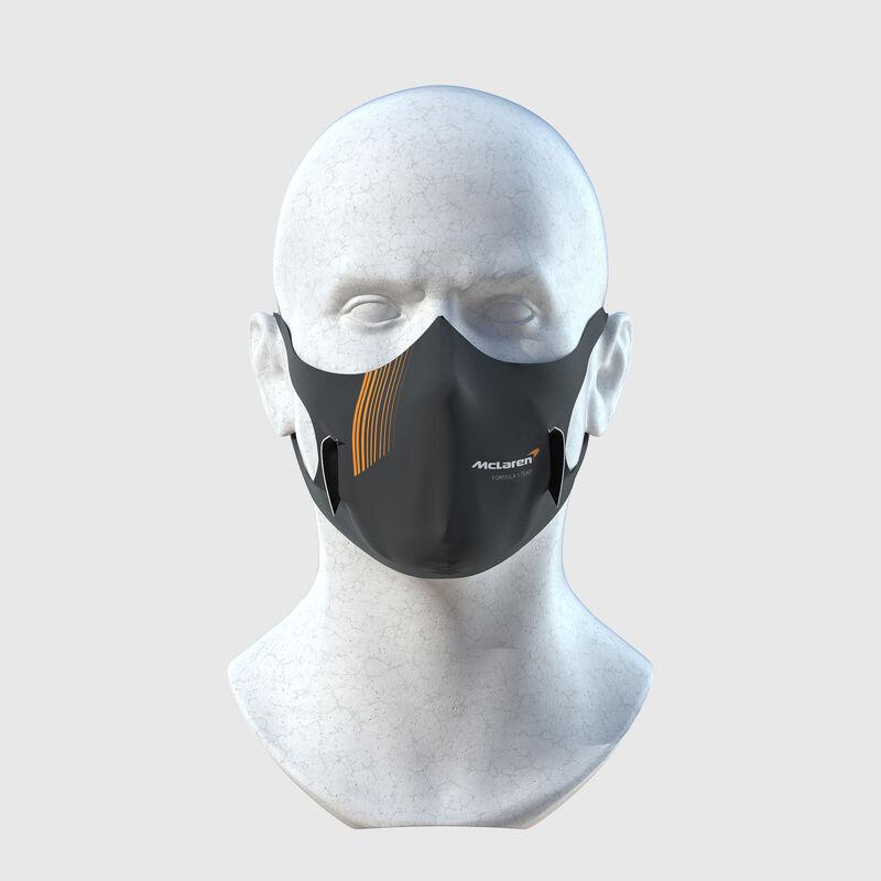 MCLAREN STRIPE U FACE MASK - dark grey
