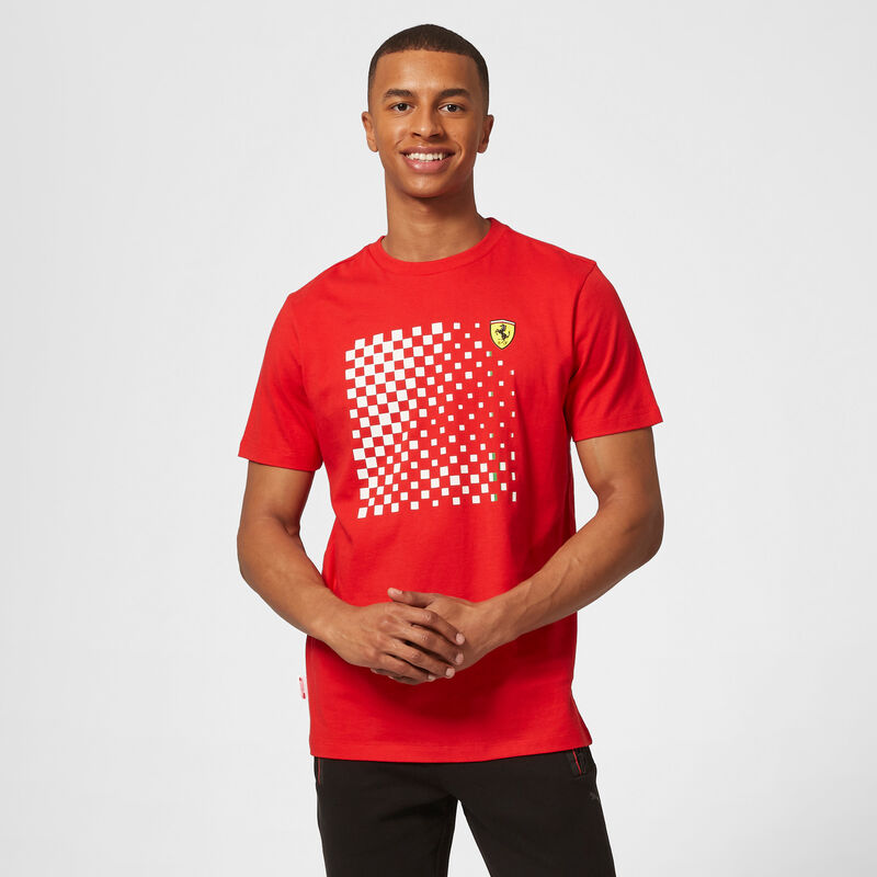 SF FW MENS CHECKERED GRAPHIC TEE - red