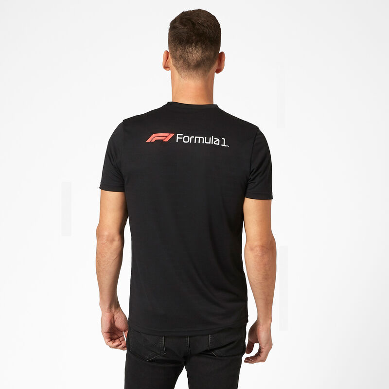 F1 FW MENS TECH TEE - black