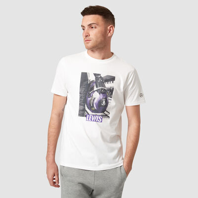 Lewis Hamilton Helmet Graphic T-shirt