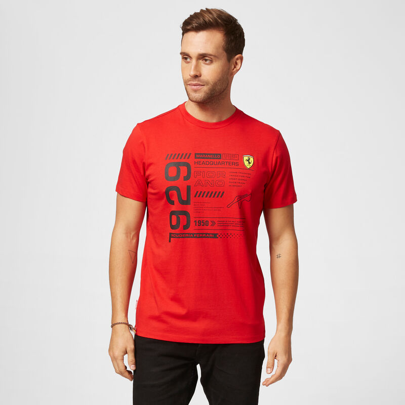 SF FW MENS INFOGRAPHIC TEE - red