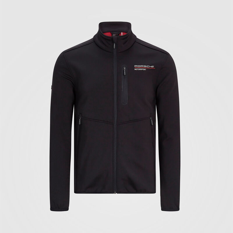 PORSCHE FW MENS SOFTSHELL JACKET - black