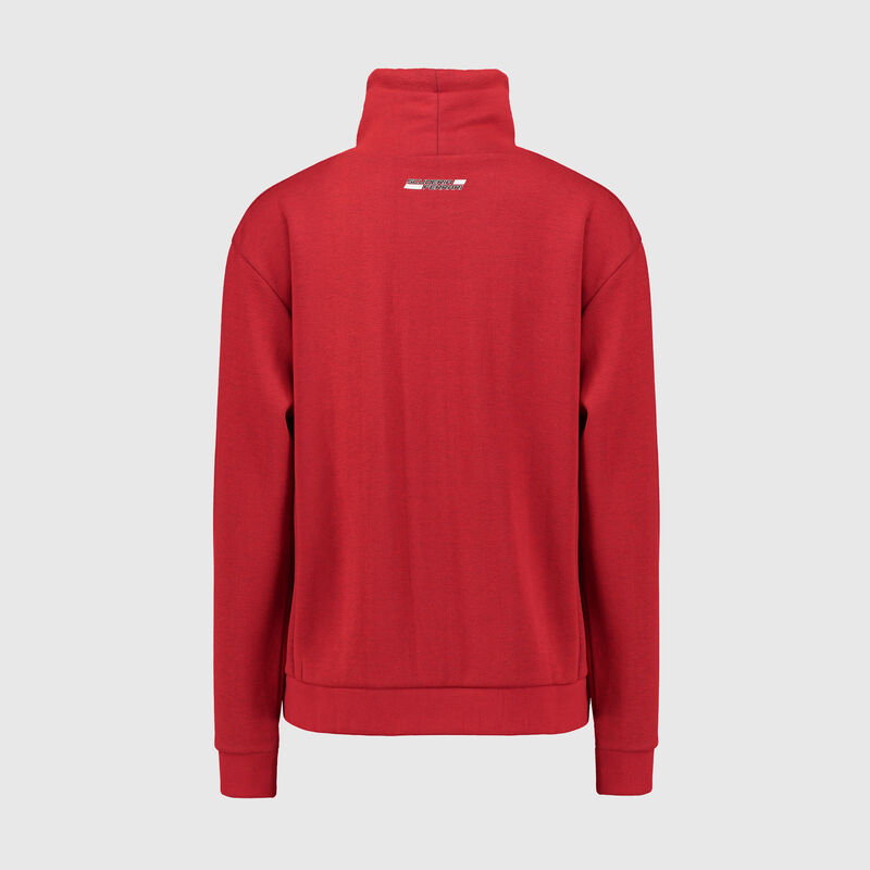SF FW WOMENS FUNNEL NECK SWEAT SHIRT - red