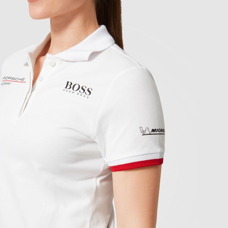 PORSCHE RP WOMENS TEAM POLO - white