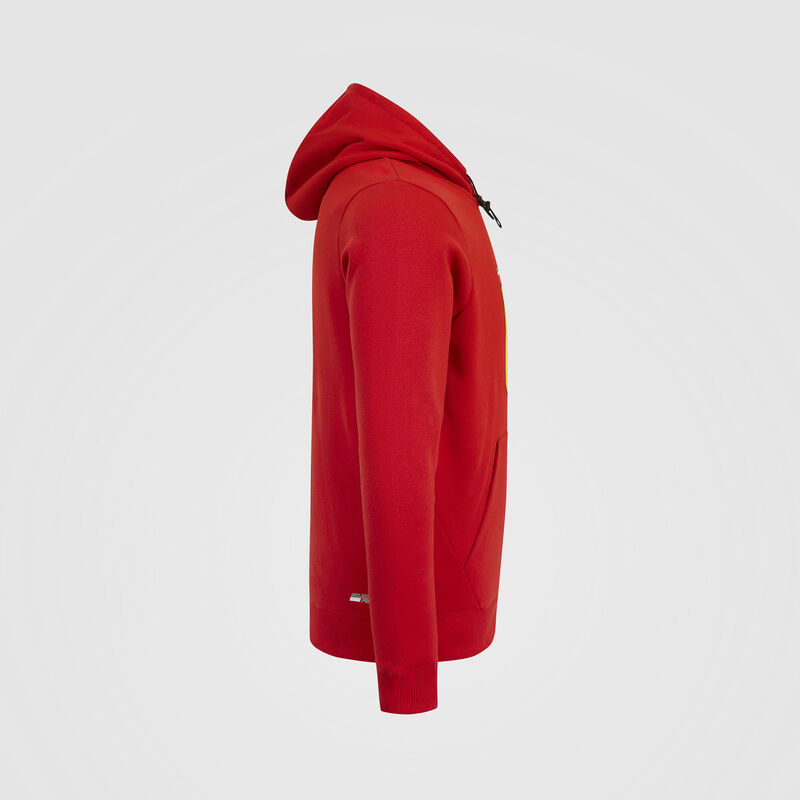 SF FW MENS HOODED SWEAT - red