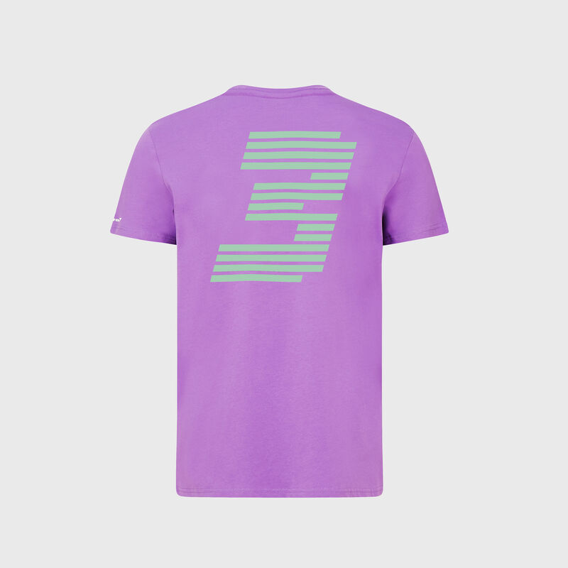MCLAREN FW MENS RICCIARDO NO3 SILVERSTONE TEE - purple