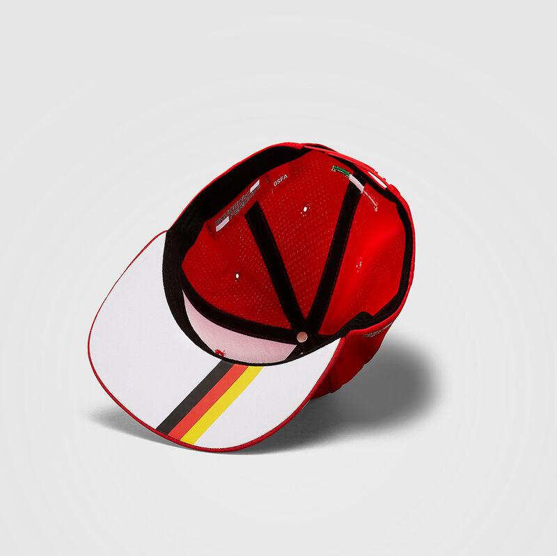 SF FW VETTEL FLAT BRIM CAP - red