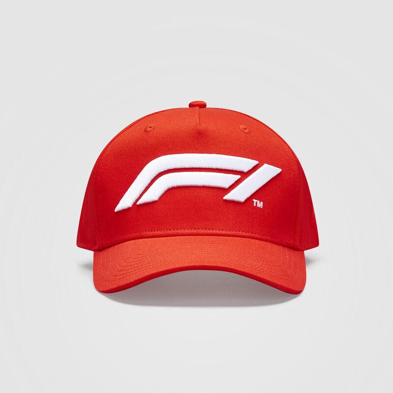 F1 FW LARGE LOGO BASEBALL CAP - red