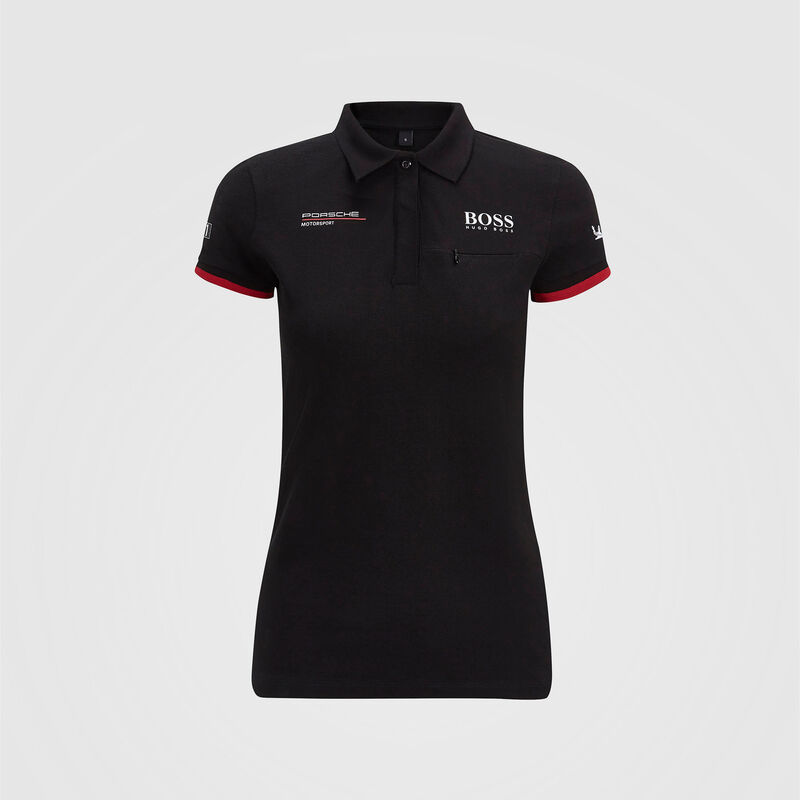 PORSCHE RP WOMENS TEAM POLO - black