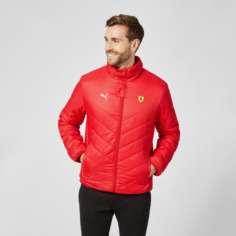 SF PU FW MENS PADDED JACKET - red