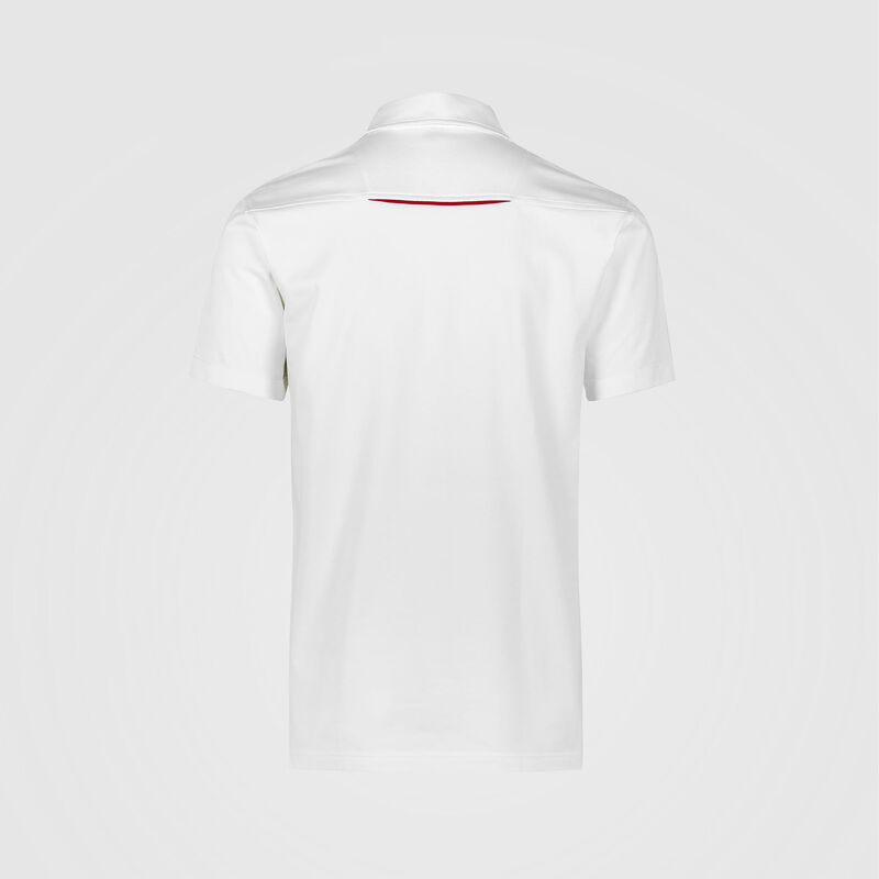 PORSCHE FW MENS POLO - white