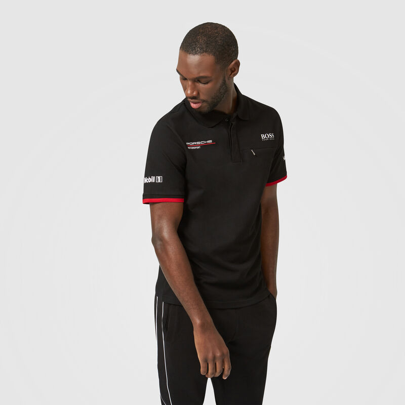 PORSCHE RP MENS TEAM POLO - black