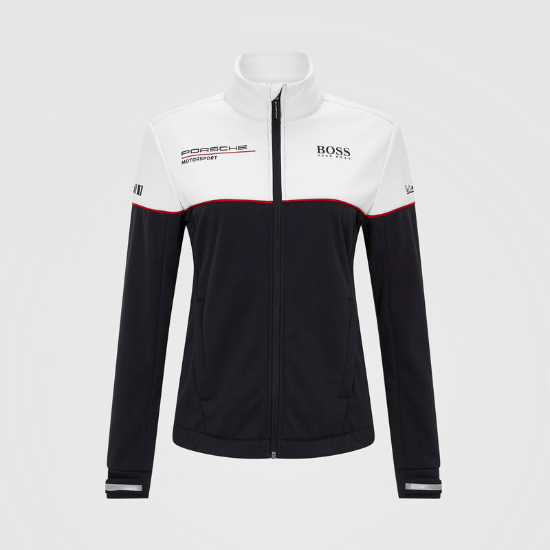PORSCHE RP WOMENS TEAM SOFTSHELL JACKET - black