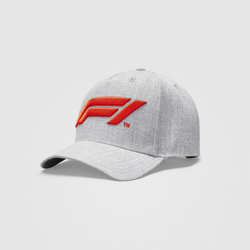 F1 FW LARGE LOGO BASEBALL CAP - grey