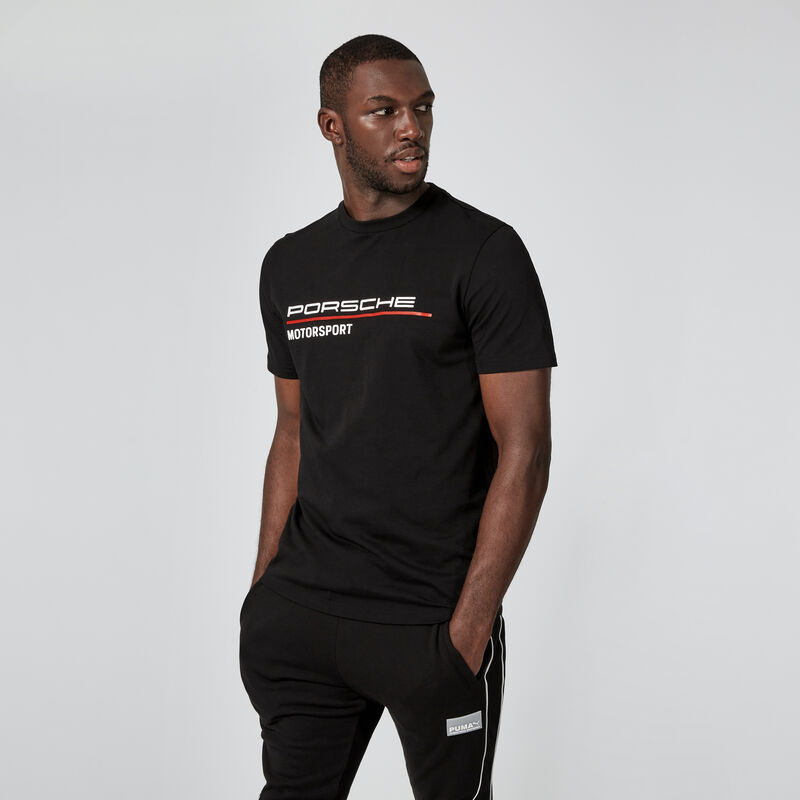 PORSCHE FW MENS TEE - black