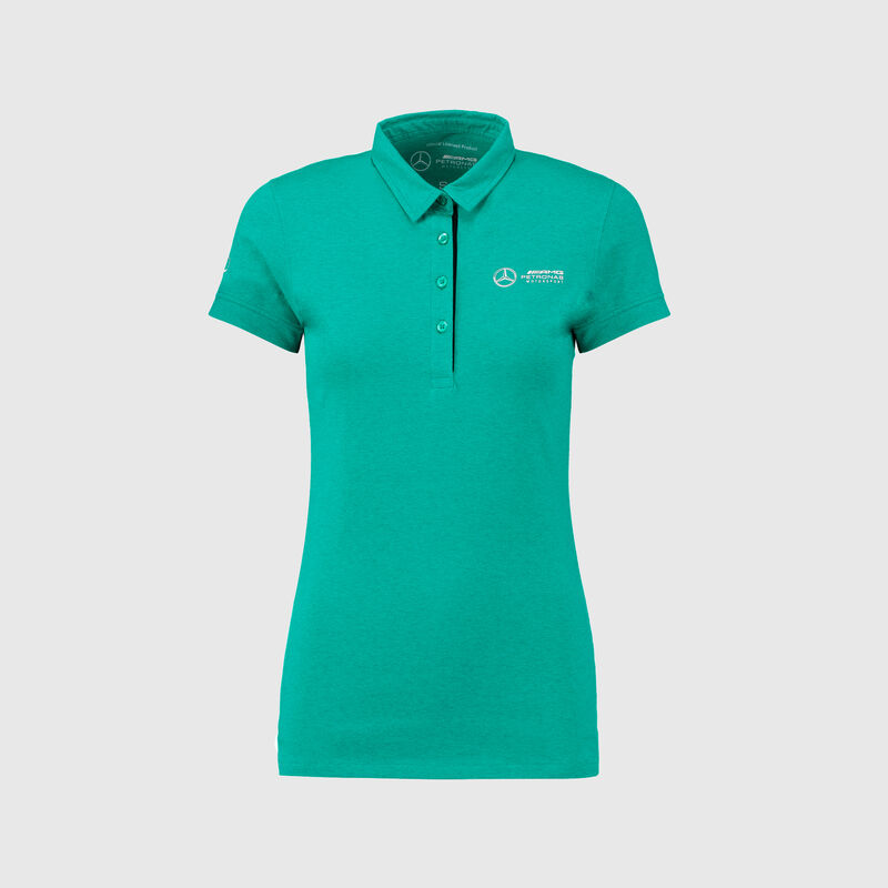 MAPM FW WOMENS MARL CLASSIC POLO - green