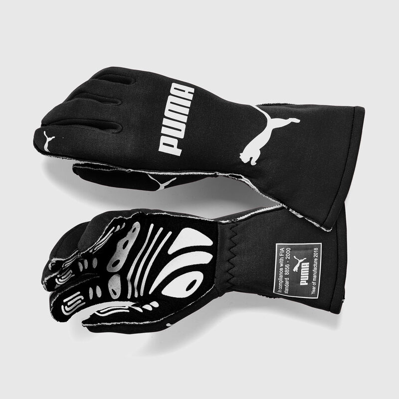 PU RW SLW GT7 FIA GLOVES - black