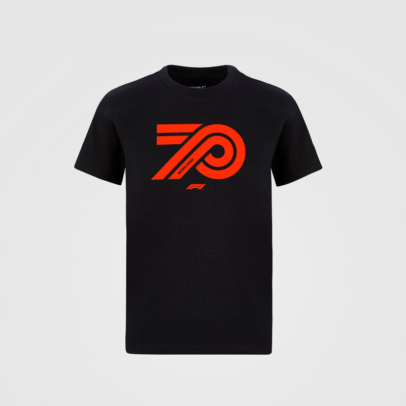 FORMULA 1 MENS 70TH ANNIVERSARY TSHIRT - black