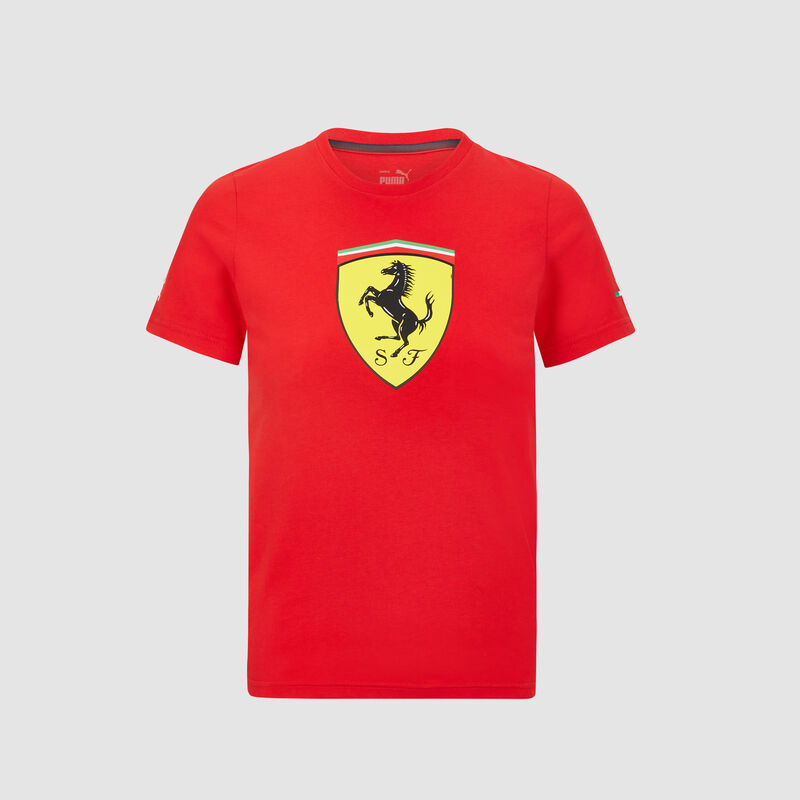 SF PU FW MENS LARGE SHIELD TEE - red