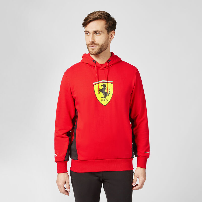 SF PU FW MENS HOODED SWEAT - red