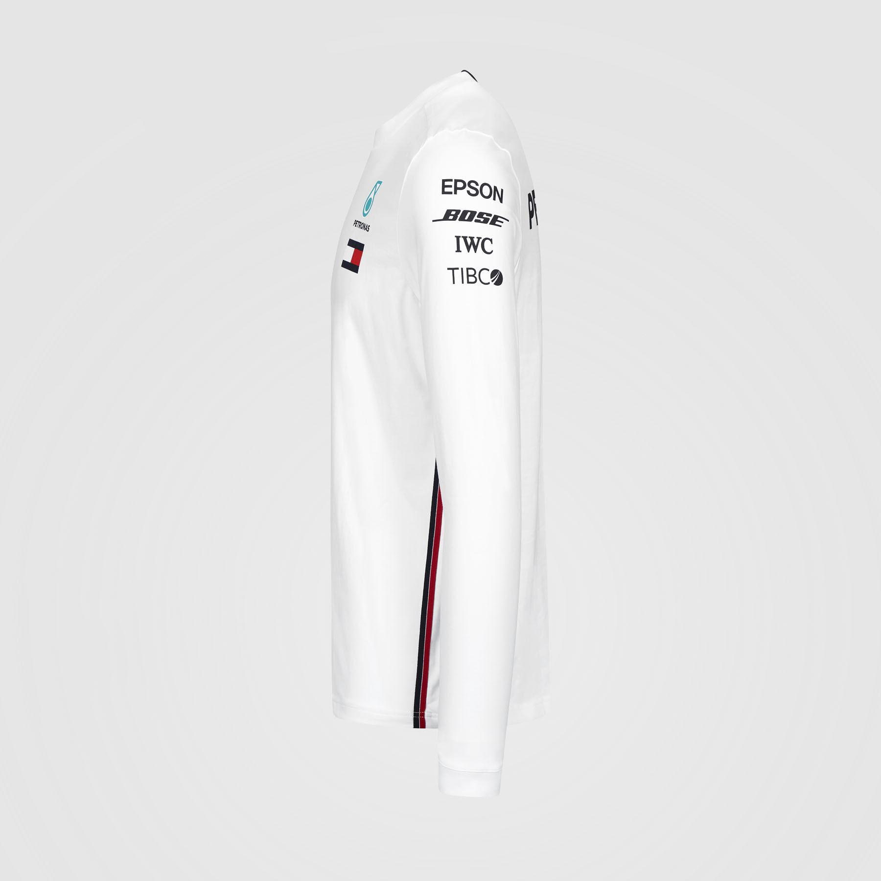 Mercedes Benz AMG Petronas F1 2020 Mens Long Sleeve Team Driver T-Shirt Black//White