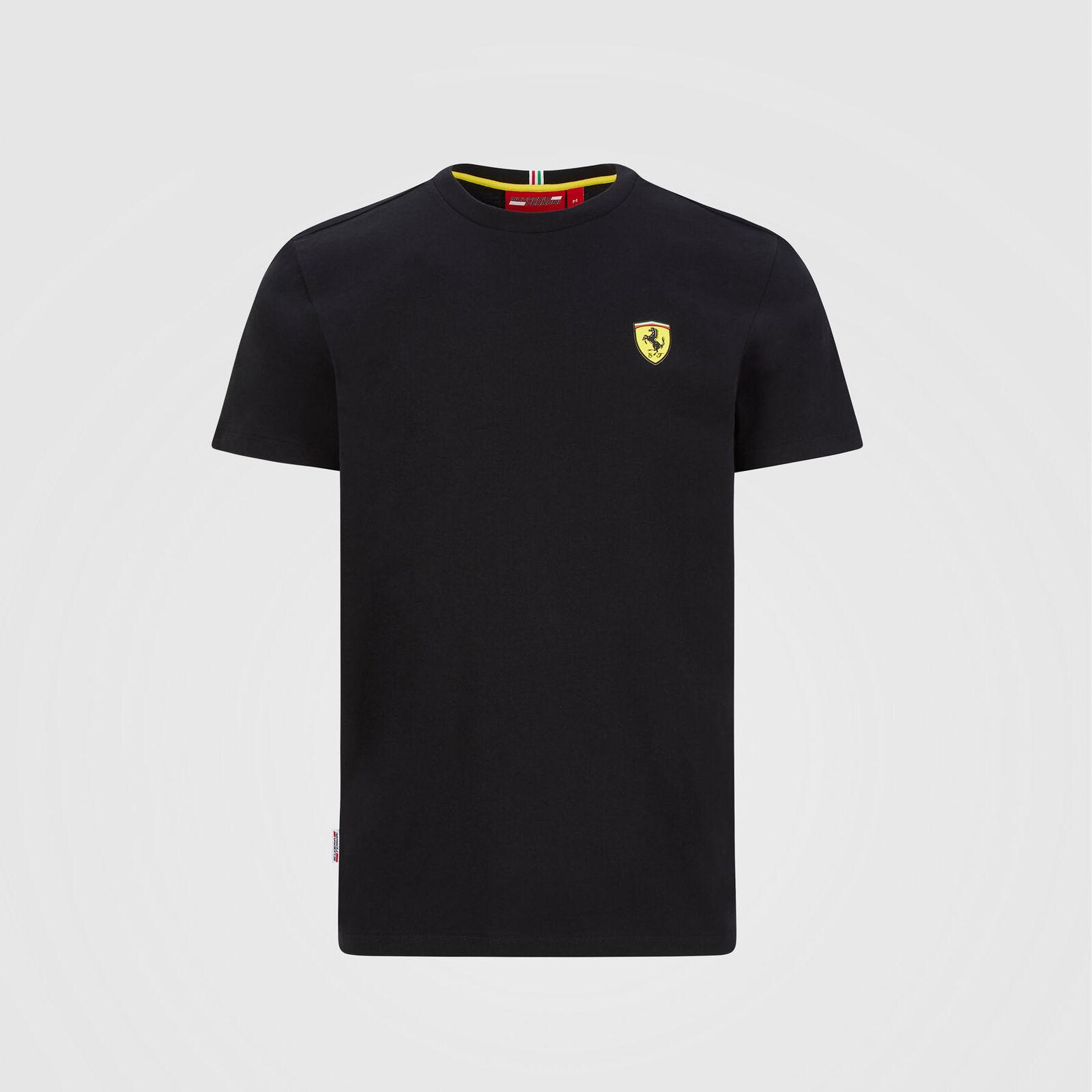 Ferrari Scuderia Herren T-Shirt F1 Small Shield Schwarz//Rot