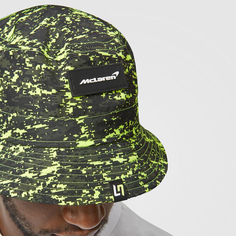 MCLAREN LANDO GLITCH BUCKET HAT - lime