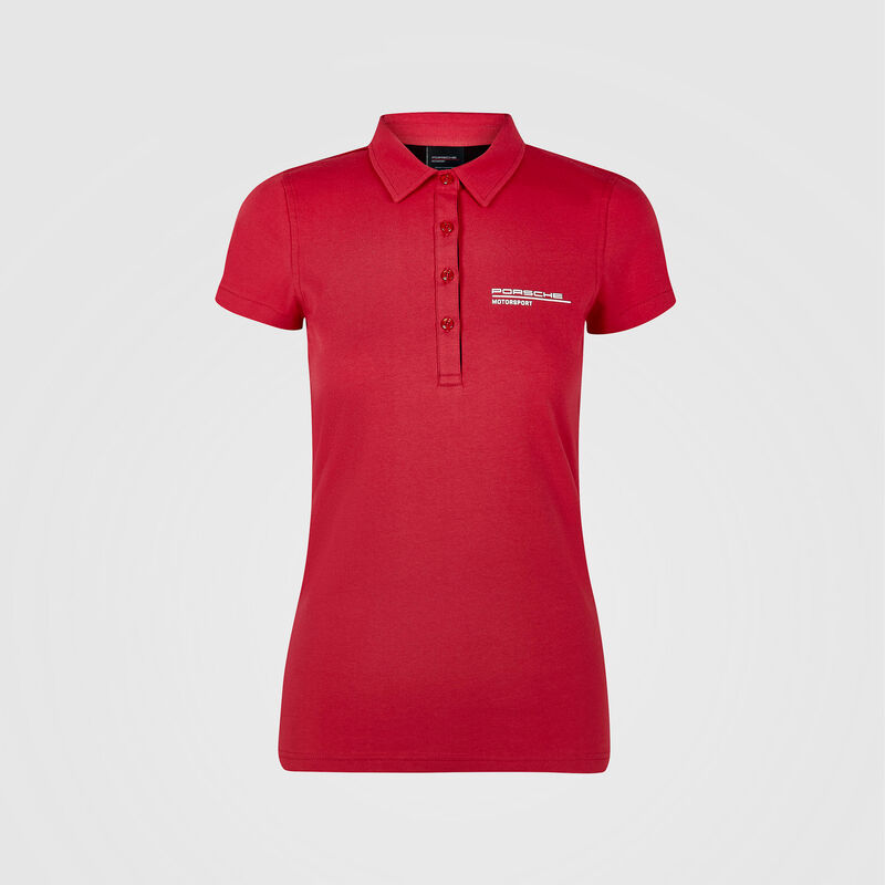 PORSCHE FW WOMENS POLO - red