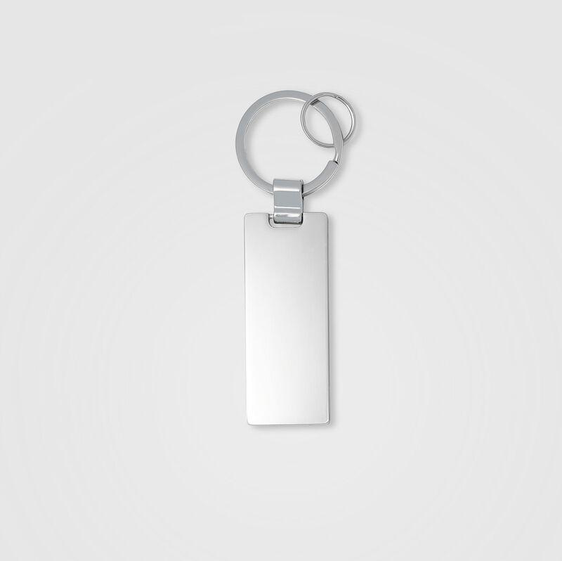 PORSCHE FW LOGO KEYRING - silver