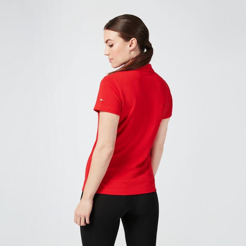 SF PU FW WOMENS CLASSIC POLO - red