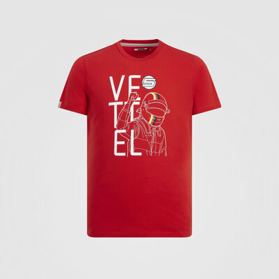 Sebastian Vettel Coureur Fan T-Shirt