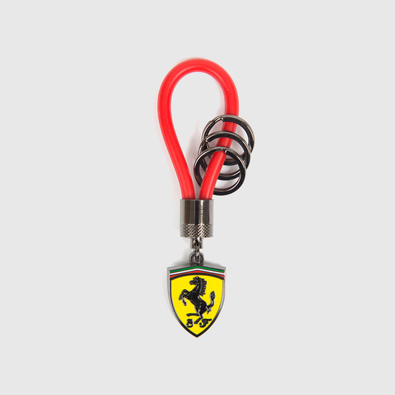 SF FW RUBBER STRAP KEYRING - red