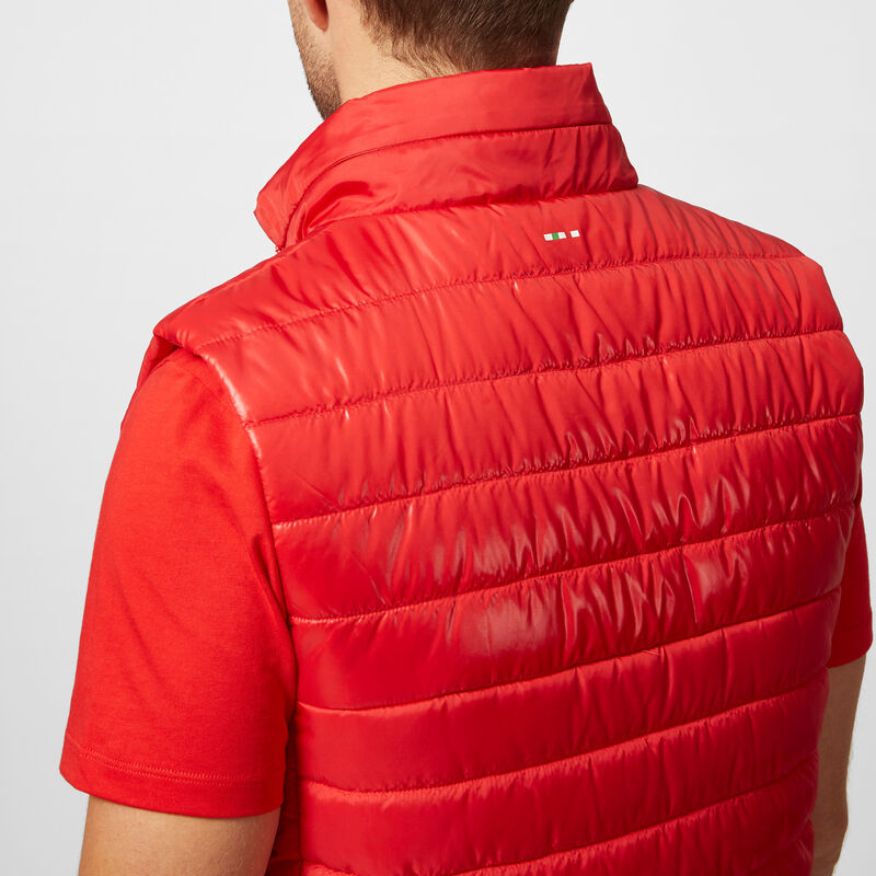 SF FW MENS PADDED GILET - red