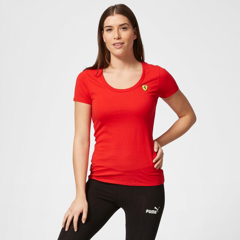 SF FW WOMENS SMALL SHIELD TEE - red