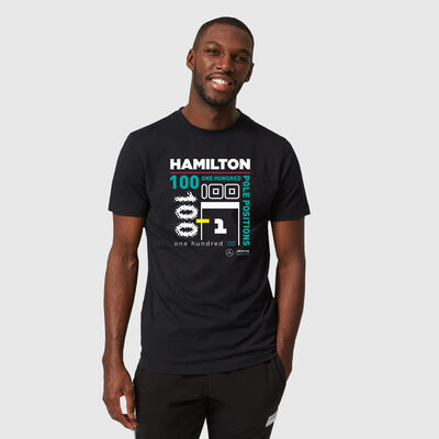 Lewis Hamilton 100 F1 Pole T-shirt