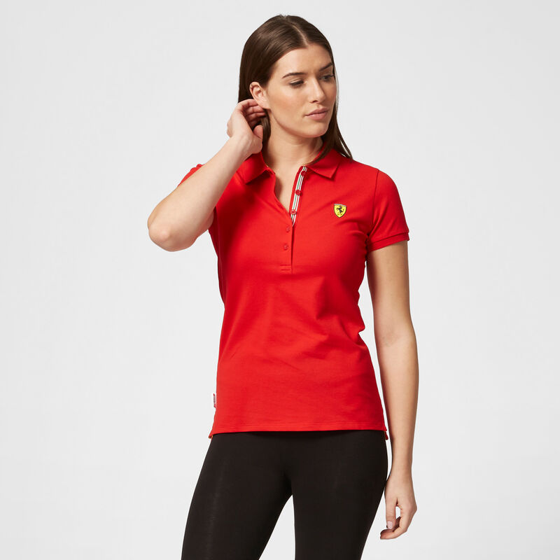 SF FW WOMENS CLASSIC POLO - red