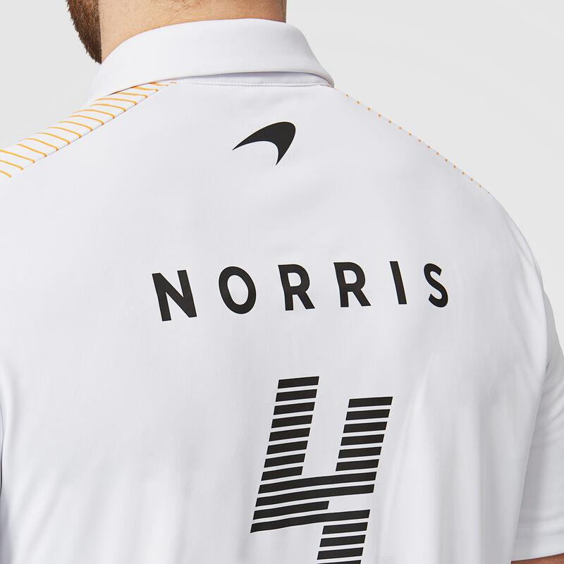 MCLAREN RP MENS NORRIS POLO - white